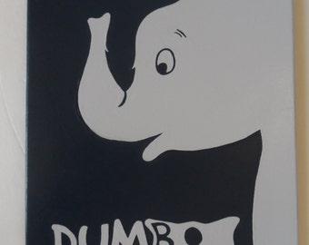Dumbo Painted Canvas Wall Hangings / Wall Art 11 X 14 Disney Inspired
