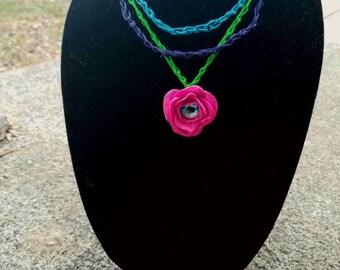 Dragon eye rose necklace