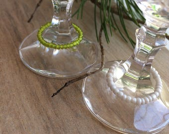 Beaded wine glass charms Mothers Day Gift