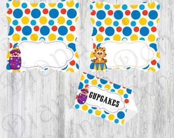 Circus Food Tents/Circus Place Cards/Circus Party/Circus Birthday/Circus Tags/Circus Labels/Carnival Food Tents/Carnival Tags/Circus Theme