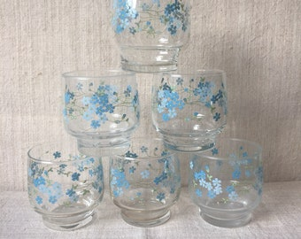 6 veronica arcopal veronica glasses water water glasses in arcopal, made in france.