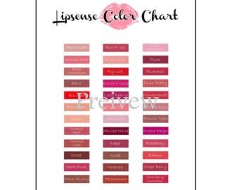 Lipsense Color Chart - Lisense Vendor Events & Lipsense Parties