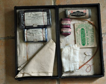 Vintage First Aid Kit, Newsome Merchandise sampler?