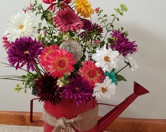 Large Water Can with Flower Arrangement