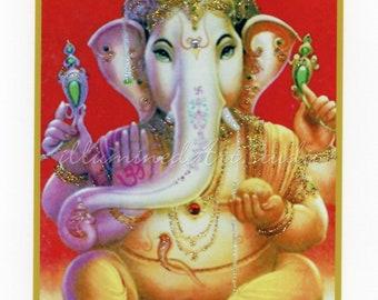 Hindu God Lord Ganesh, Hand-Embellished Card