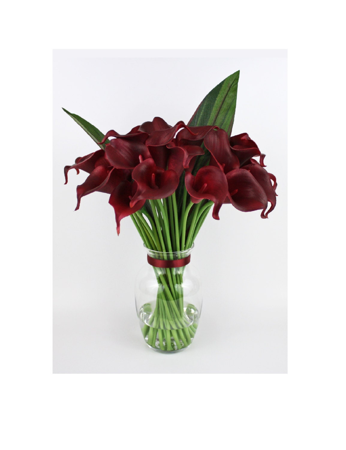 Burgundy calla lilylilies silk floral arrangement faux zoom reviewsmspy