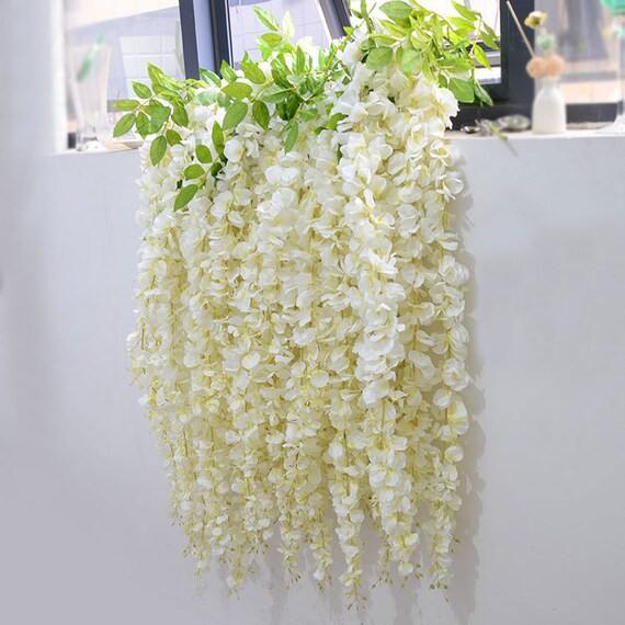 5 pcs artificial silk wisteriahome garden hanging flower plant 5 pcs artificial silk wisteriahome garden hanging flower plantwisteria wedding vine decorfor wedding partyfloral supplies122 17 from popolace on etsy mightylinksfo Choice Image
