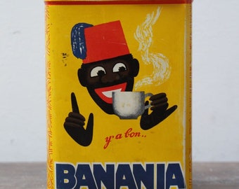 Vintage Banania sugar tin