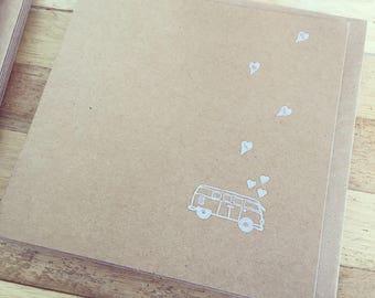 Double card 'Van' 13x13 cm with envelop