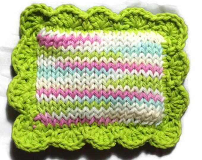 Knitted Dishcloth / Knit Scrubby / Knitted Pot Scrubber / Knit Dish Scrubbies / Dish Cloth / Sponge / Nylon Scrubbie / Scrubber / Lava Lamp