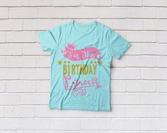 Birthday princess svg, Birthday princess crown svg, Birthday girl svg, SVG Files, Cricut, Cameo, Cut file, Clipart, Svg, DXF, Png, Pdf, Eps