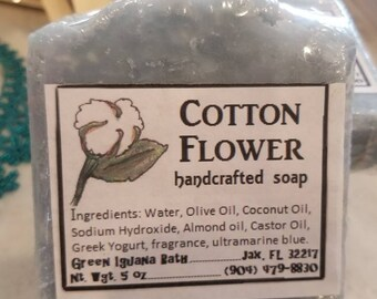 Cotton Flower handcrafted soap bar