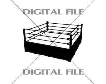 Wrestling Ring Vector Image Vinyl Decal T-shirt Digital Cutting Files ,Svg File, Ai, Eps, PNG, A1