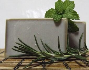 Spearmint Rosemary Shampoo Soap, Cold Process Shampoo Bar, Olive Oil Bar Soap, Hair Loss Soap, Dandruff Shampoo Bar, Itchy Scalp, Bath Soap