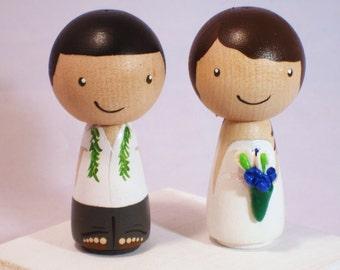 Custom Kokeshi Wedding Cake Topper Kokeshi Doll Wedding Toppers Custom Cake Toppers