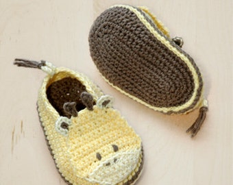 Crochet Pattern Baby Booties Giraffe Baby Shoes Giraffe Preemie Socks Animal Shoes Crochet Slippers Baby Shower Crochet Patterns