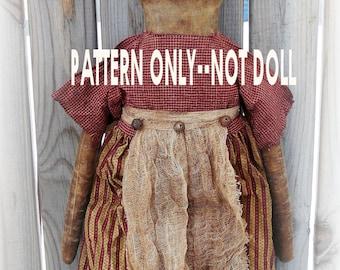 Raggedy epattern-NOT DoLL Primitive Bag Holder 119  Crows Roost Prims epattern immediate download