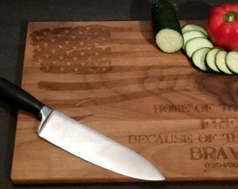 Patriotic Kitchen Cutting Board