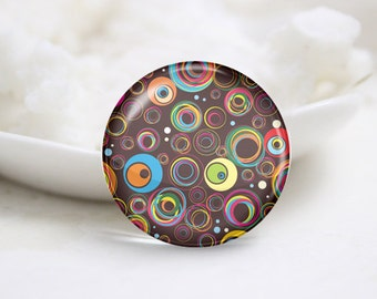 Round Glass Photo Cabochons Photo Glass Cabs-Tiling (P3222)