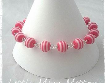 Hot Pink Stripy Bracelet