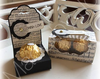 Set for one or two Ferrero Rocher chocolates. DIGITAL CUTTING FILE.  Silhouette Studio V3 file