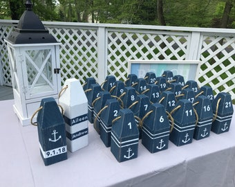 Lobster Buoys - Table Numbers, Wedding Centerpieces, Wedding Decor