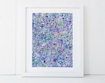 Cosmic Dots Watercolor Art Print, 8x10