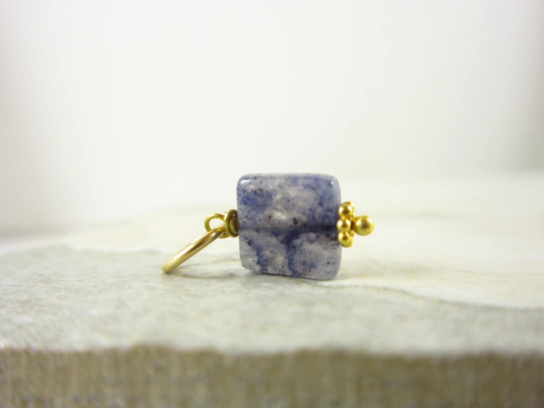 Something Blue Aventurine Pendant Sterling Silver Pendant