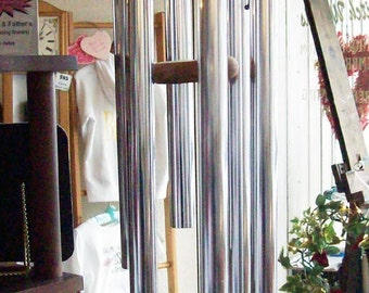 American Made Wind Chimes with Custom Engraved Wind Sail