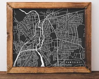 Pawtucket Map Pawtucket Art Pawtucket Map Art Pawtucket Print Pawtucket Printable Pawtucket City Art Rhode Island Art