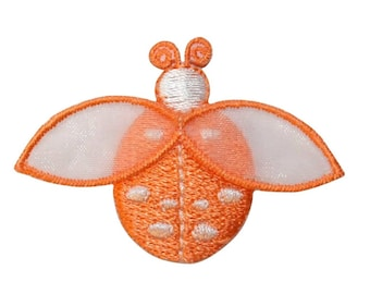 ID 1616D Ladybug Fly Patch Garden Beetle Insect Bug Embroidered Iron On Applique