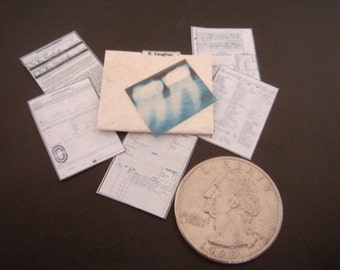 Miniature  Orthodontist / Dentist Dental    Patient Medical Records in File   -  Dollhouse 1/6    1/12    1/24    playscale miniature