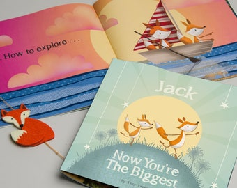 Now You're The Biggest Personalised Children's Book | Baby Brother | Baby Sister | Big Brother | Big Sister | Older Sibling Book