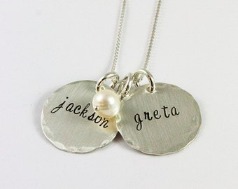 Name Necklace - Personalized Necklace - Mom Jewelry - Custom Name Necklace - Sterling Silver Necklace - tagyoureitjewelry