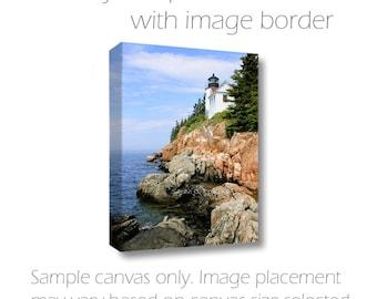 Coastal Maine Photography-Lighthouse on Canvas-Bass Harbor Light-Vertical Canvas Wrap-Nautical Wall Art-Fine Art-30x45-Acadia National Park