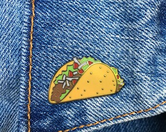 Taco Pin, Hard Enamel Pin, Lapel Pin, Gift, Jewelry, Art (PIN64)