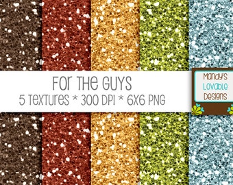 SALE - For The Guys Digital Glitters - Red Gold Brown Green Blue - Scrapbooking, Photography, Blog Design, Invitations - CU OK