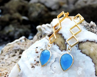 Beehives Stone Earrings