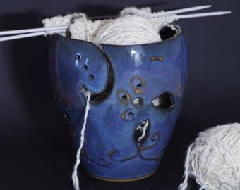 Yarn Bowl  -  Knitting Bowl - Ceramic Yarn Holder -