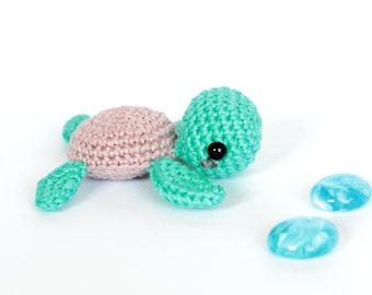 Sea turtle stuffed animal, Amigurumi turtle plush, Turtle crochet, Turtle gifts, Crochet miniature animals, Stuffed turtle, Knitted animals