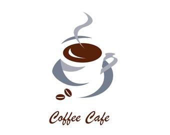 Coffee logo, cafe logo, coffee roaster logo, custom business logo, logo design, graphic design, branding.