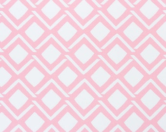 "Two 96"" x 50""  Custom Curtain Panels  - Geometric Passion - Pink"