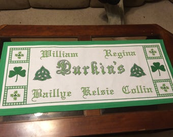 Made to order Family Heritage Table topper