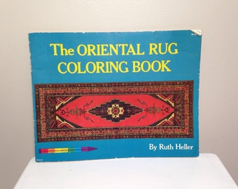 The ORIENTAL RUG Coloring Book By Ruth Heller 1973 Price Stern Sloan