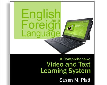 DVD - 50 EFL Video lessons dvd - EFL video and text learning system - 383 page English foreign language manual - English video tutorials