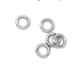 500 4 stainless steel jump rings x 0.8 mm