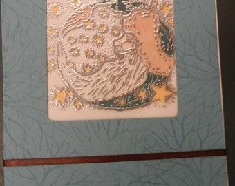Set of 2 Handmade Pennsylvania Dutch Der Belsnickel Cards