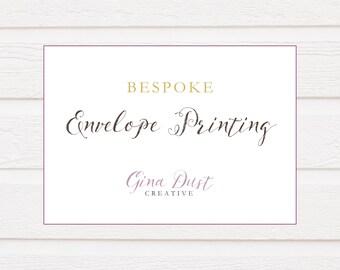 Envelope Printing | Wedding Stationery custom return guest address inner envelope name