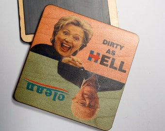 Bernie vs Hillary  Clean Dirty Dishwasher Magnet, Funny Political Magnet,  2016 President