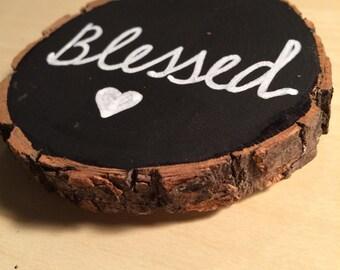 Chalkboard basswood magnet